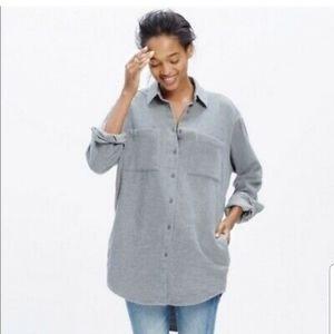 Madewell Gray Flannel Sunday Shirt Medium